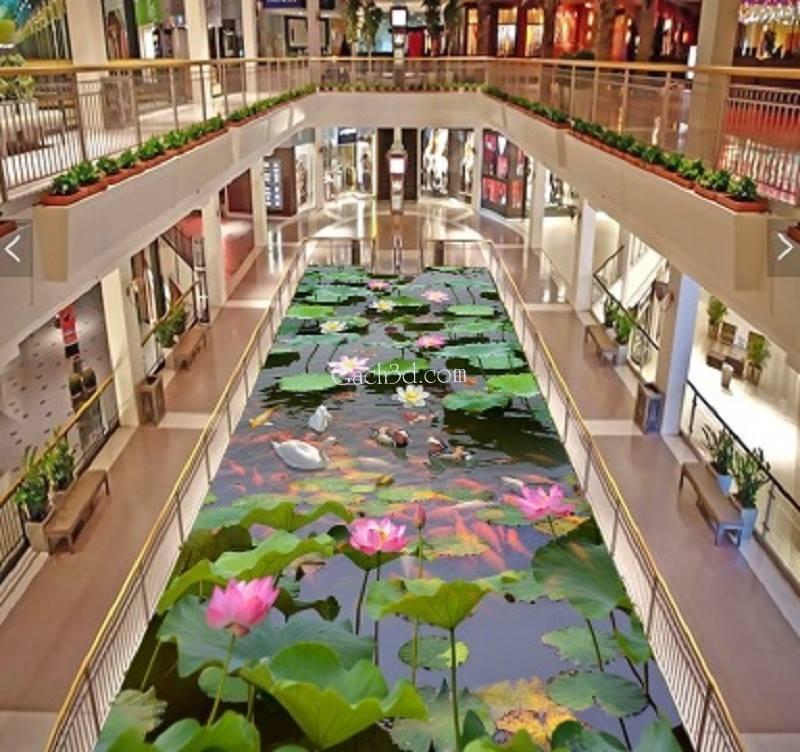 gạch 3d hồ hoa