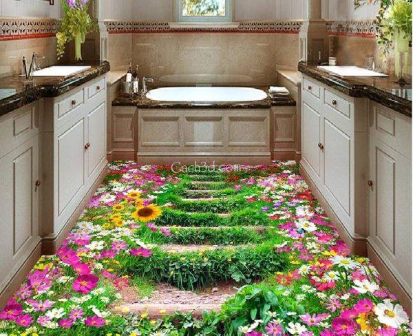 gạch 3d hồ hoa đẹp nhất