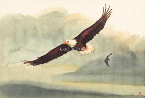 Gạch 3d loài chim