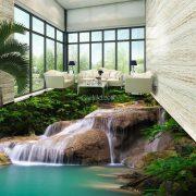 gạch 3d lát phòng tắm đẹp