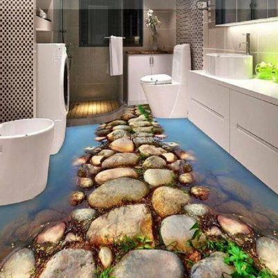 gạch 3d nhà vệ sinh đẹp