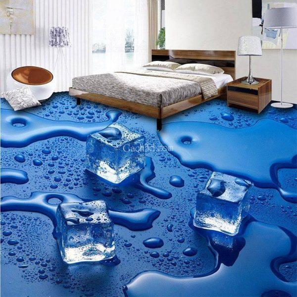gạch 3d phòng ngủ độc đáo