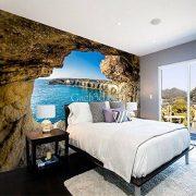 gạch 3d phòng ngủ phong cảnh