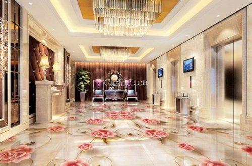 gạch 3d thảm lát phòng khách