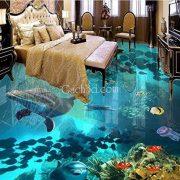 gạch 3d phòng ngủ cá voi đẹp