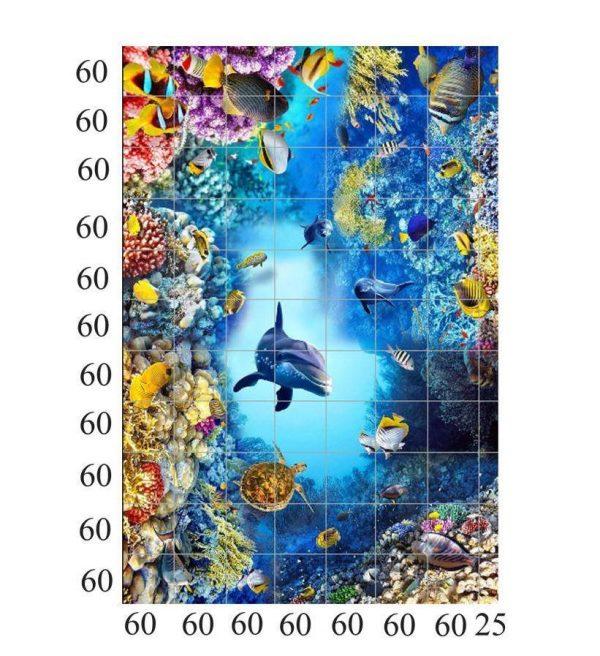 tranh gạch 3d đại dương thực tế