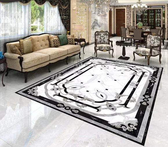 gạch thảm CNC phòng khách