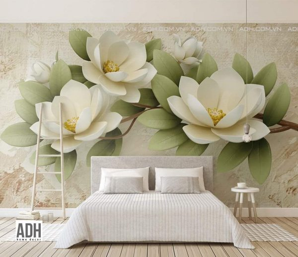 tranh hoa phòng ngủ