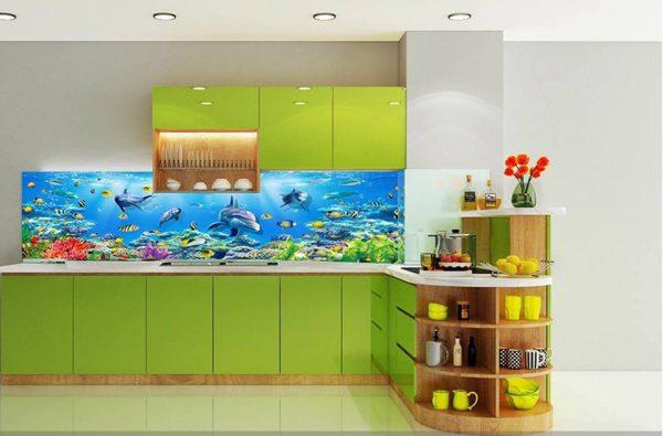kính ốp bếp 3d đại dương
